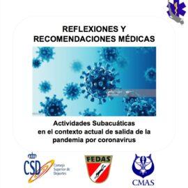 REFLEXIONES Y RECOMENDACIONES MEDICAS BUCEO Y CORONAVIRUS
