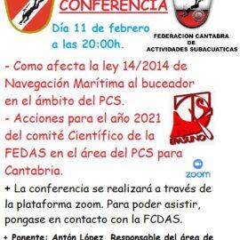 CONFERENCIA FEDAS – FCDAS SOBRE BUCEO CIENTIFICO EN EL AREA DE PATRIMONIO CULTURAL SUBACUATICO