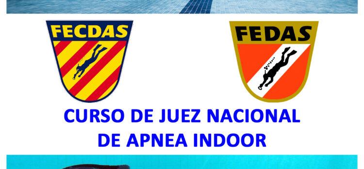 CURSO DE JUEZ NACIONAL FEDAS DE APNEA INDOOR